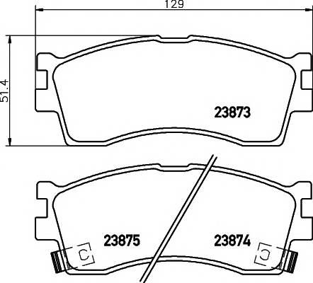 Тормозные колодки Тормозные колодки дисковые TEXTAR PAGID арт. 2387301