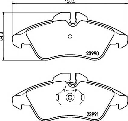 Тормозные колодки Тормозные колодки дисковые TEXTAR PAGID арт. 2399002