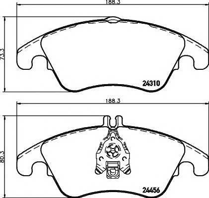 Тормозная система Гальмiвнi колодки, к-кт. ABE арт. 2431001