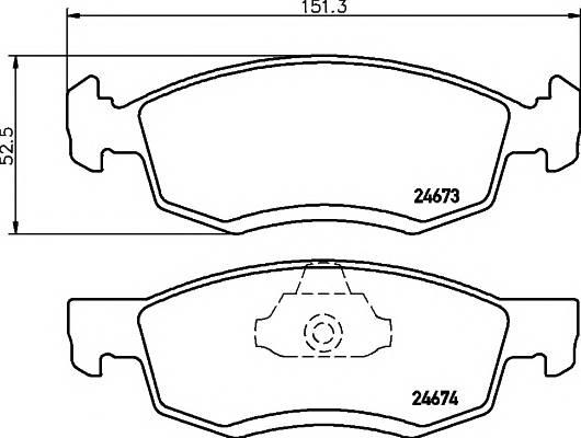 Тормозные колодки Тормозные колодки дисковые TEXTAR PAGID арт. 2467301
