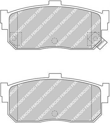Тормозные колодки Тормозные колодки Ferodo PAGID арт. FDB1104