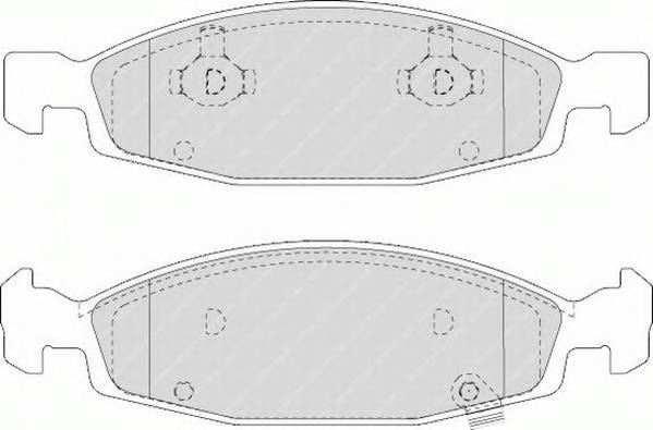 Тормозные колодки Тормозные колодки дисковые PAGID арт. FDB1523