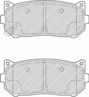 Тормозные колодки Тормозные колодки Ferodo PAGID арт. FDB1569