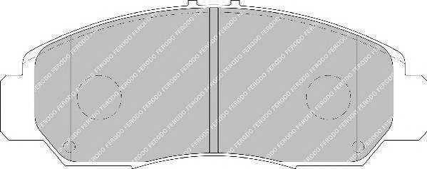 Тормозные колодки Тормозные колодки Ferodo ABE арт. FDB1669