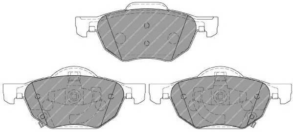 Тормозные колодки Тормозные колодки дисковые ABE арт. FDB1704