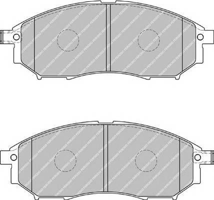 Тормозные колодки Тормозные колодки дисковые ABE арт. FDB1881