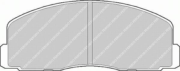Тормозные колодки Тормозные колодки Ferodo PAGID арт. FDB368