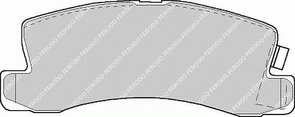 Гальмівні колодки, дискові PAGID арт. FDB478
