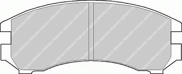 Тормозные колодки Тормозные колодки дисковые PAGID арт. FDB550