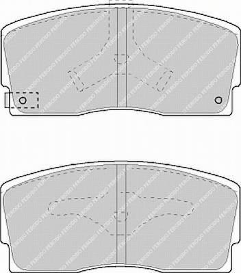 Тормозные колодки Тормозные колодки дисковые ABE арт. FDB718