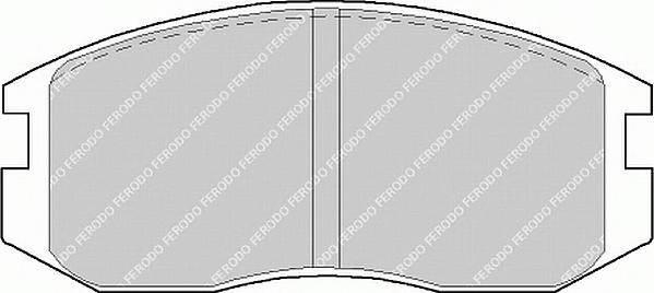 Тормозные колодки Тормозные колодки Ferodo PAGID арт. FDB759
