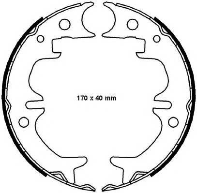 Тормозные колодки Тормозные колодки барабанные ABE арт. FSB4008