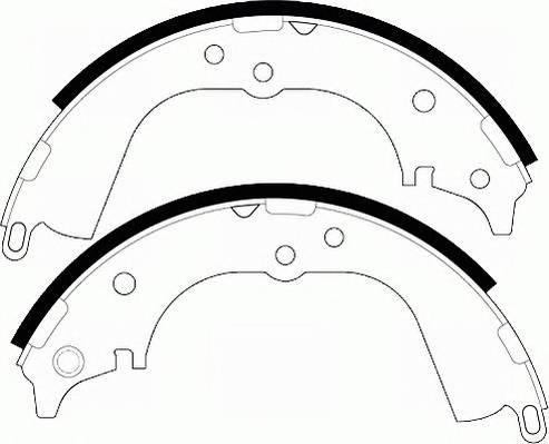 Тормозные колодки Тормозные колодки барабанные ABE арт. FSB563