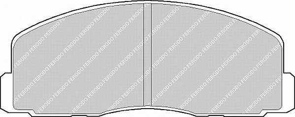 Тормозные колодки Тормозные колодки Ferodo ABE арт. FSL368