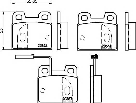 Тормозные колодки 21590/15,0мм Тормозные колодки PAGID PAGID арт. T1056