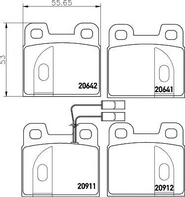 Тормозные колодки 20912/15,0мм Тормозные колодки PAGID PAGID арт. T4158