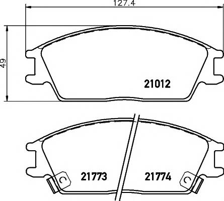 Тормозные колодки 21012/14,0мм Тормозные колодки PAGID PAGID арт. T0366