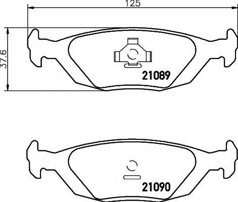 Тормозные колодки 21089/15,0мм Тормозные колодки PAGID PAGID арт. T1040