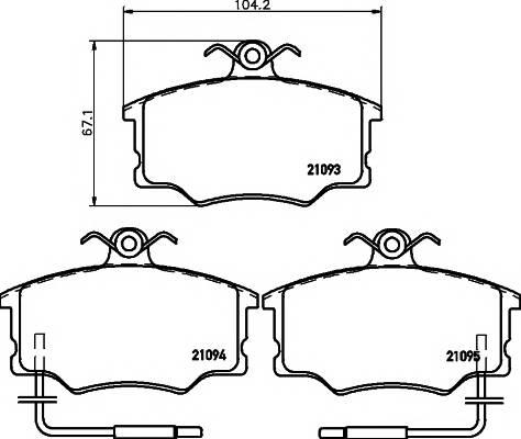 Тормозные колодки 21093/17,0мм Тормозные колодки PAGID PAGID арт. T5013