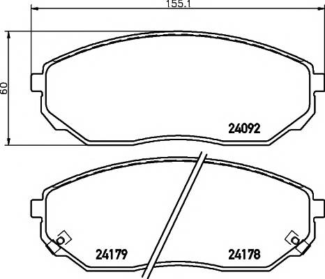 Тормозные колодки 24092/17,3мм Тормозные колодки PAGID PAGID арт. T1508