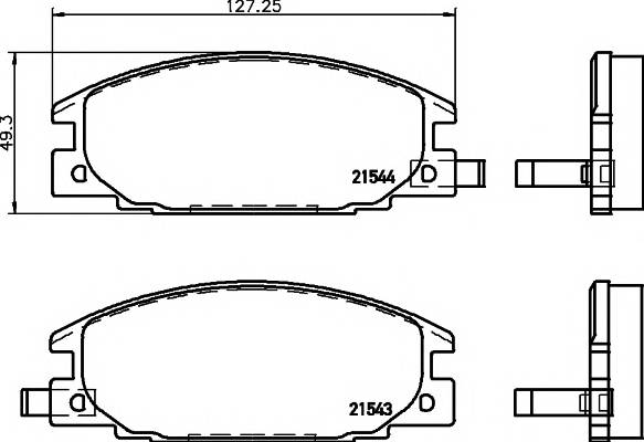 Тормозные колодки 21544/16,5мм Тормозные колодки PAGID PAGID арт. T3003