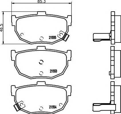 Тормозные колодки 21553/14,0мм Тормозные колодки PAGID PAGID арт. T0391