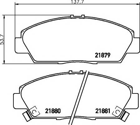 Тормозные колодки 21881/18,5мм Тормозные колодки PAGID ABE арт. T3035