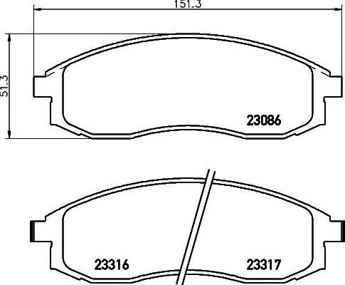 Тормозные колодки 23086/16,8мм Тормозные колодки PAGID ABE арт. T3078