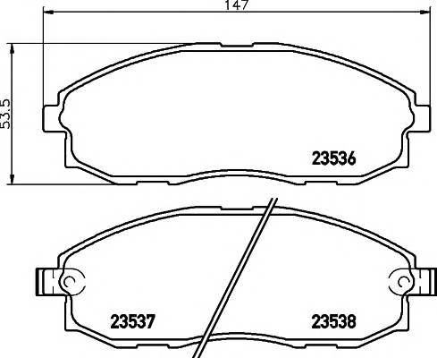 Тормозные колодки 23536 Тормозные колодки PAGID ABE арт. T1242