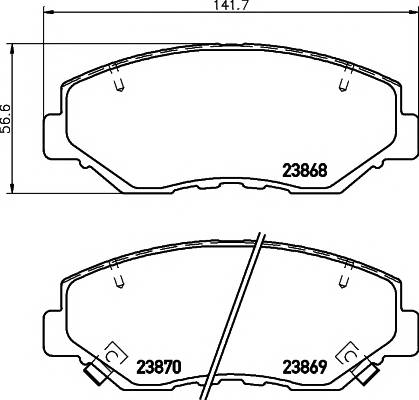 Тормозные колодки 23868/16,9мм Тормозные колодки PAGID PAGID арт. T1333