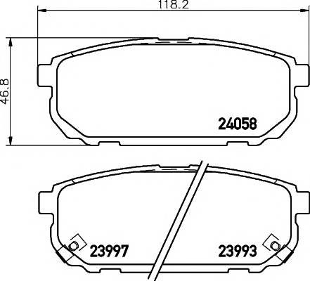 Тормозные колодки 23993/15,8мм Тормозные колодки PAGID PAGID арт. T1401