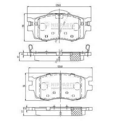 Тормозная система Гальмiвнi колодки, к-кт. PAGID арт. J3600542