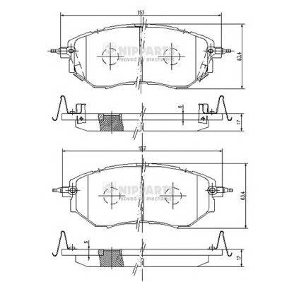 Тормозная система Гальмiвнi колодки, к-кт. PAGID арт. J3607019