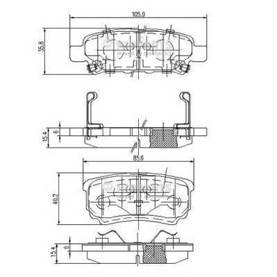 Тормозная система Гальмiвнi колодки, к-кт. PAGID арт. N3615015