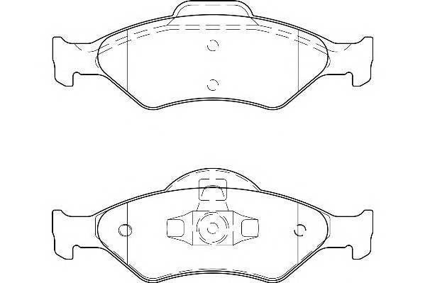 Тормозные колодки Тормозные колодки Wagner PAGID арт. WBP23200A