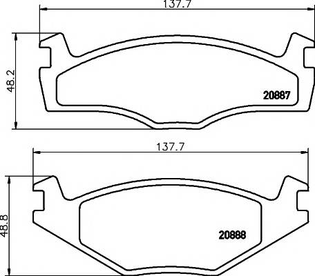 Тормозные колодки Тормозные колодки дисковые PAGID арт. 2088707
