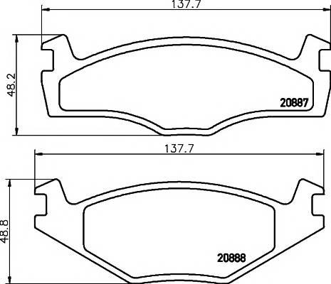 Тормозные колодки Тормозные колодки дисковые PAGID арт. 2088710