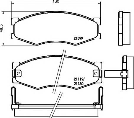 Тормозные колодки Тормозные колодки дисковые ABE арт. 2109902