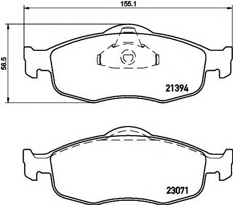 Тормозные колодки Тормозные колодки дисковые PAGID арт. 2139408