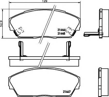 Тормозные колодки Тормозные колодки дисковые PAGID арт. 2144601