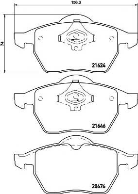 Тормозная система Гальмiвнi колодки, к-кт. PAGID арт. 2162402
