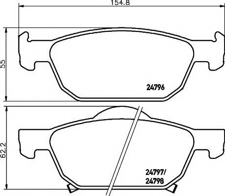 Тормозные колодки Тормозные колодки дисковые TEXTAR ABE арт. 2479601