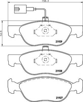 Тормозные колодки Тормозные колодки дисковые PAGID арт. 2192701