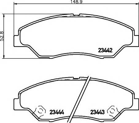 Тормозные колодки Тормозные колодки дисковые PAGID арт. 2344201