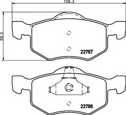 Тормозные колодки Тормозные колодки дисковые ABE арт. 2378701