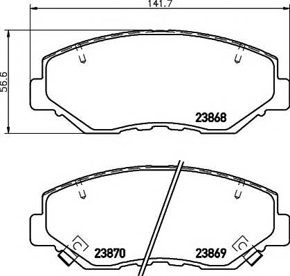 Тормозные колодки Тормозные колодки дисковые TEXTAR ABE арт. 2386801