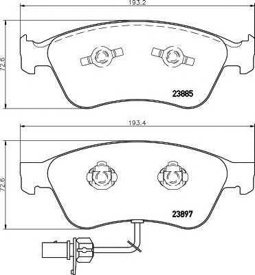 Тормозные колодки Тормозные колодки дисковые TEXTAR ABE арт. 2388501