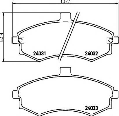 Тормозные колодки Тормозные колодки дисковые TEXTAR ABE арт. 2403101