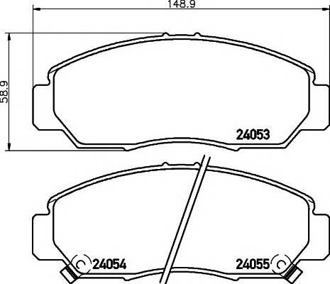 Тормозные колодки Тормозные колодки дисковые ABE арт. 2405301