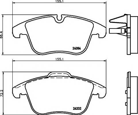 Тормозные колодки Тормозные колодки дисковые ABE арт. 2433201